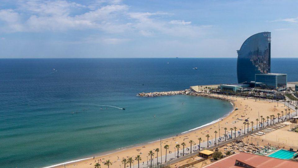 Pasamos un día en la Playa de la Barceloneta.