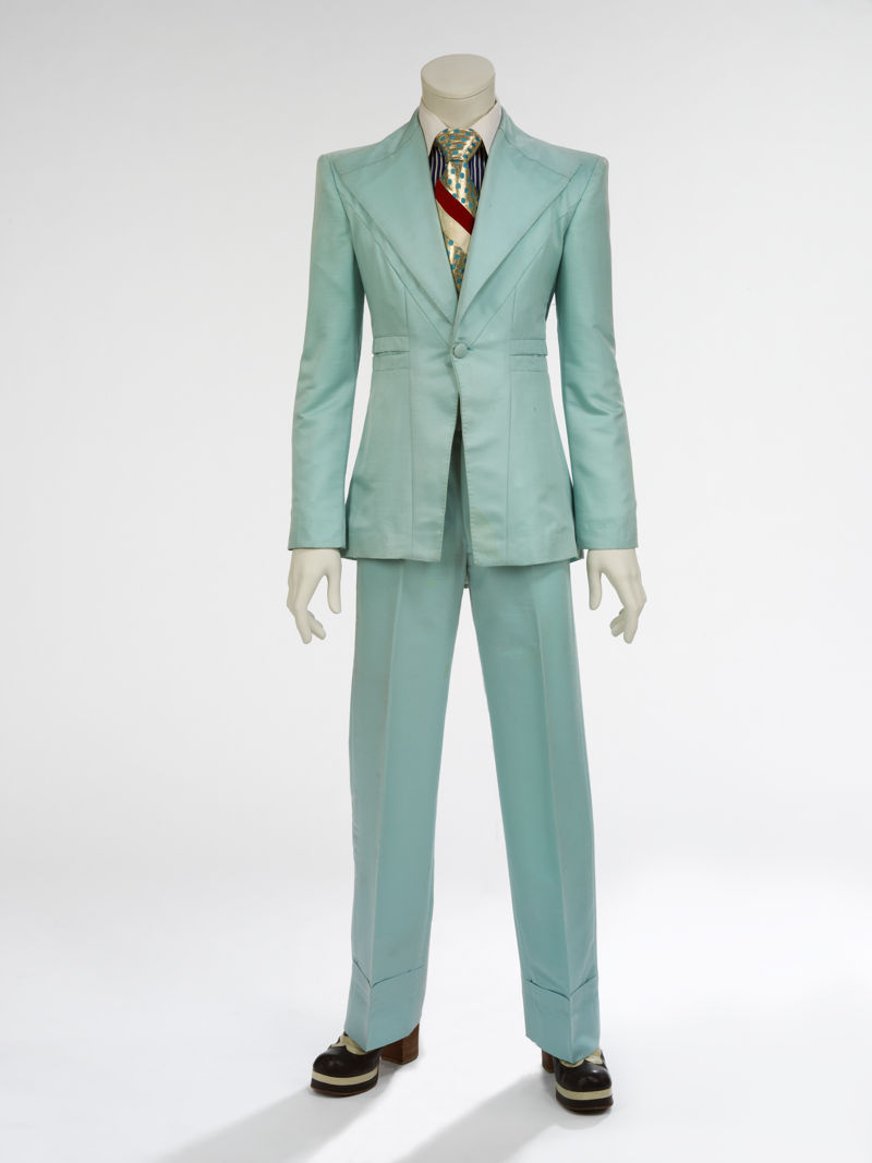 15. Ice-blue suit, 1972. Designed by Freddie Burretti for the 'Life on Mars' video
