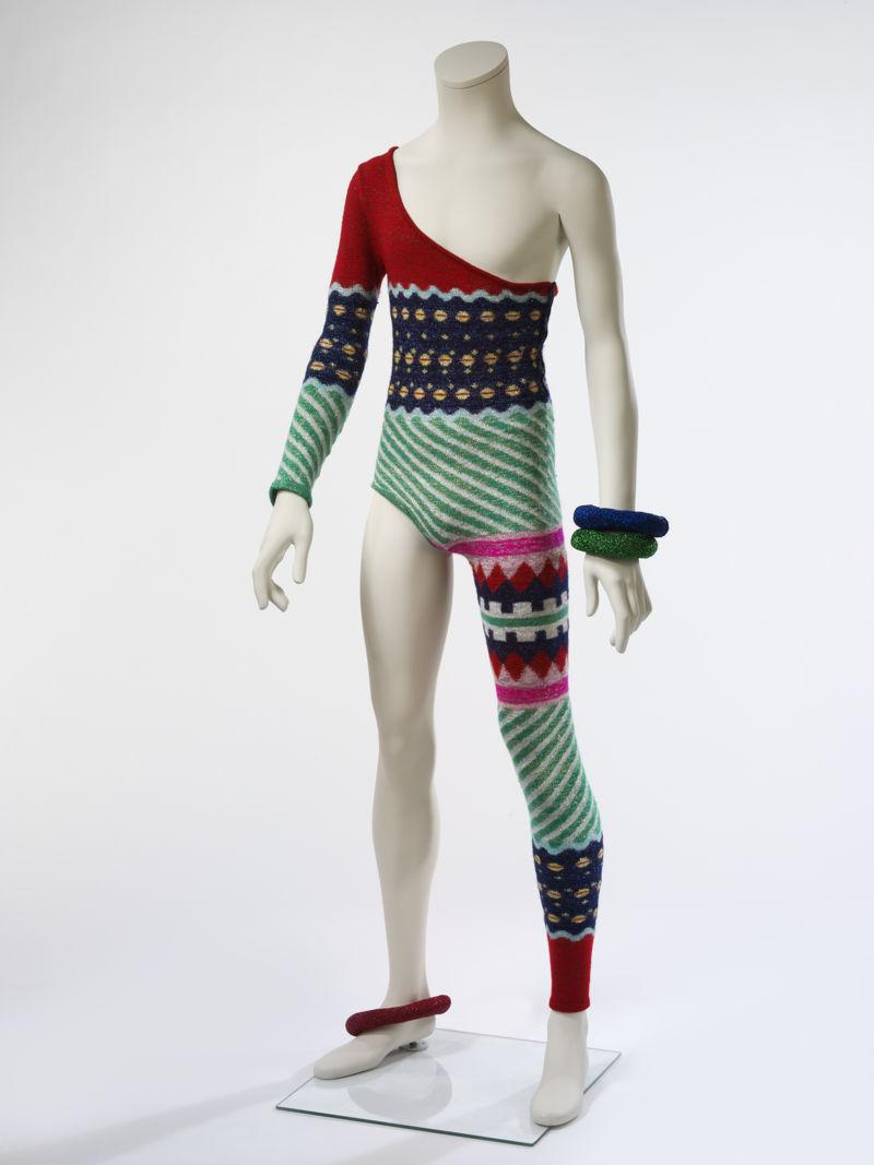 16. Asymmetric knitted bodysuit, 1973