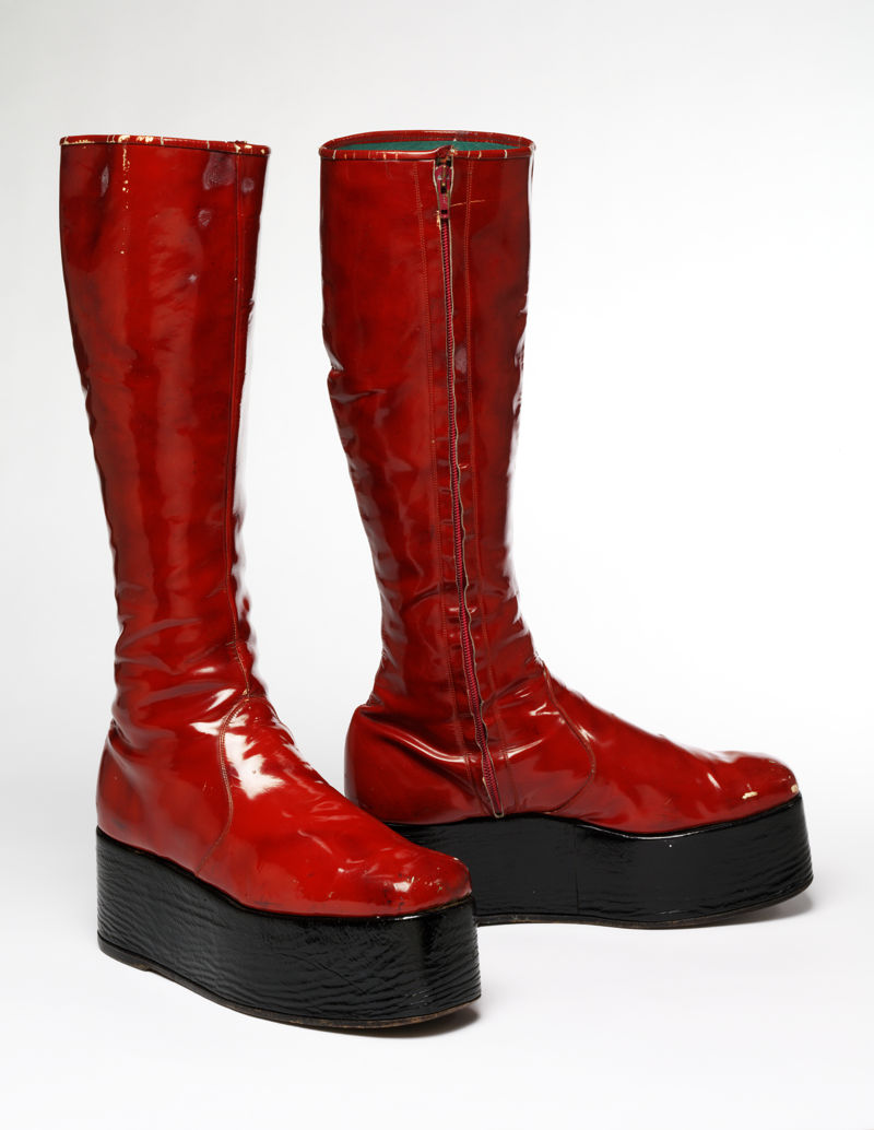 17. Red platform boots for the 1973 'Aladdin Sane' tour