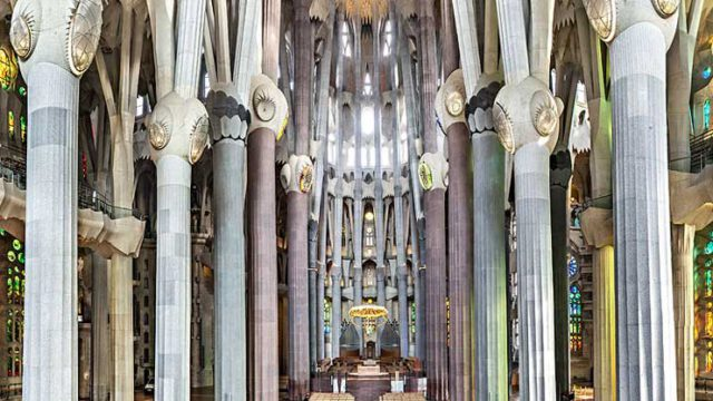 The Sagrada Familia, one of the 12 treasures of Spain.