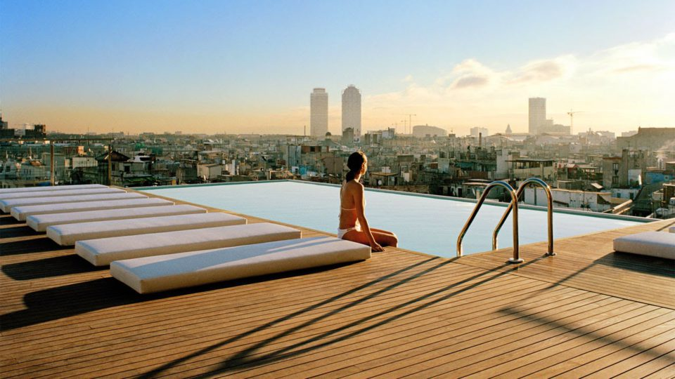 Productions on terraces overlooking Barcelona