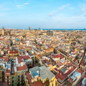 Vistas de Barcelona desde Santa Maria del Pi
